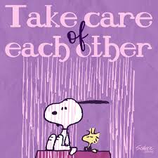 Take Care of Each Other - Snoopy and Woodstock Image